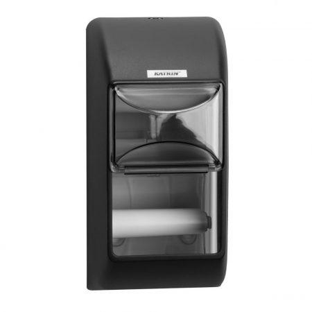 KATRIN kistekercses  toalettpapír adagoló két tekercshez - fekete