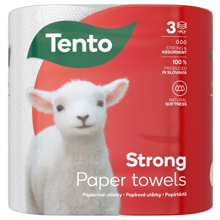 Tento Extra strong kéztörlő 3 rétegű, 70 lapos, 2tekercs/csomag