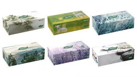 Tento Familybox 120 papírzsebkendő/kozmetikai kendő, 2 rétegű, 120 kendő/doboz