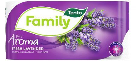 Tento Fresh Aroma Lavender toalettpapír, 2 rétegű, 156 lapos, 8 tekercs/csomag