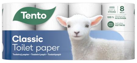 Tento Pearl White toalettpapír 3 rétegű, 150 lapos, 8 tekercs/csomag