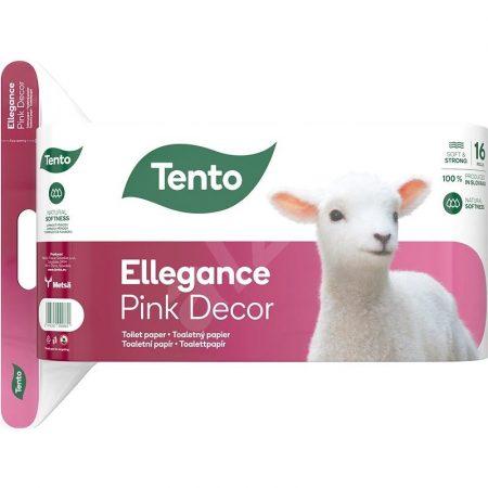 Tento Ellegance Pink Decor 16os toalettpapír