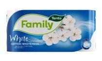 Tento Family Cotton Whiteness toalettpapír, 8 tekercs/csomag