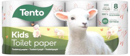 Tento Kids toalettpapír, 3 rétegű, 8 tekercs/csomag