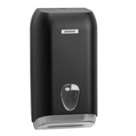 KATRIN INCLUSIVE hajtogatott toalettpapír adagoló  - fekete